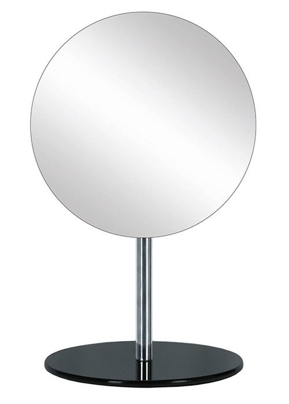 Kosmetikspiegel Crystal Mirror Metall chromiert/Glas Schwarz Spiegel