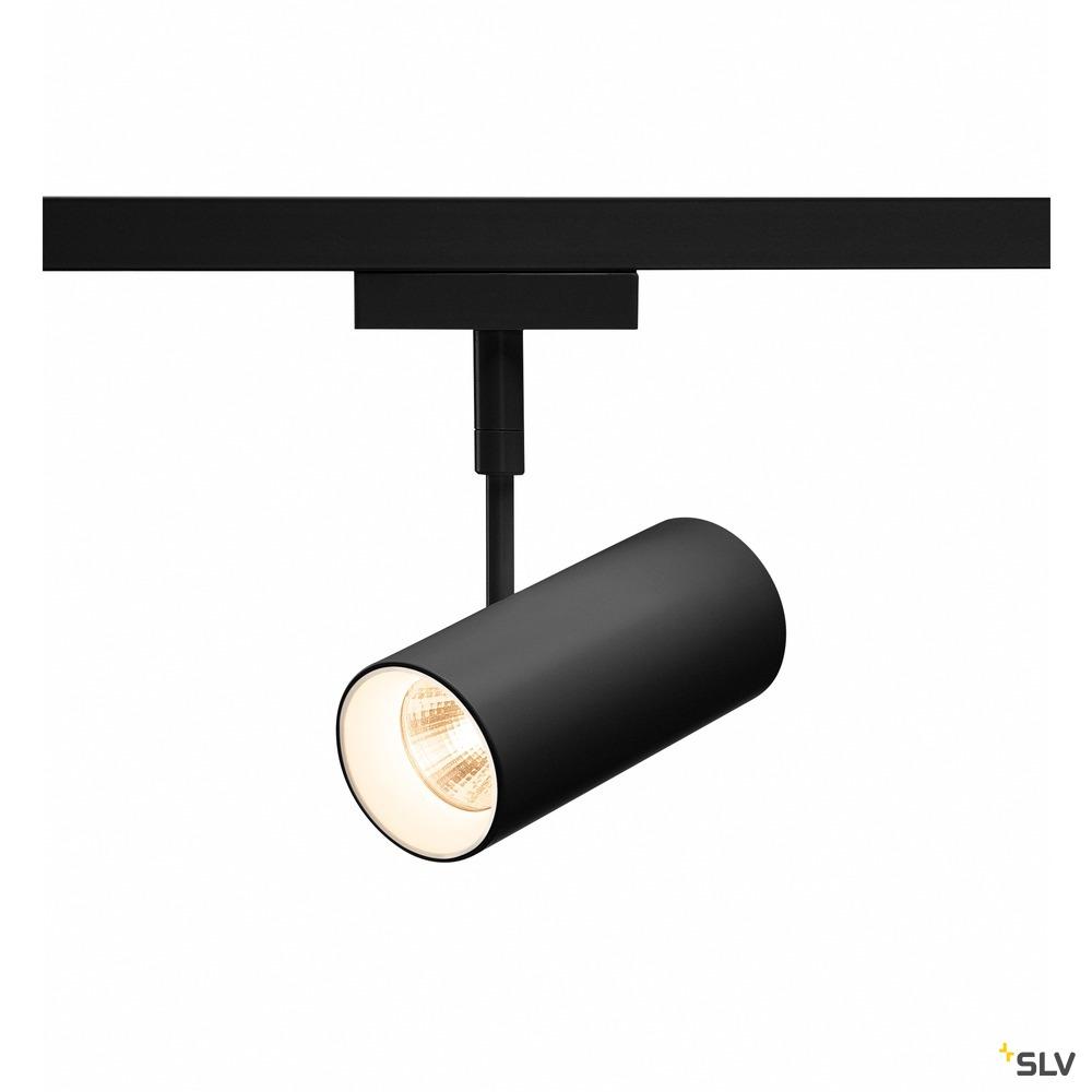 REVILO Strahler für SLV D-TRACK, Hochvolt-Stromschiene 2 Phasen, LED 3000K, schwarz, 15°, inkl. 2 Phasen-Adapter
