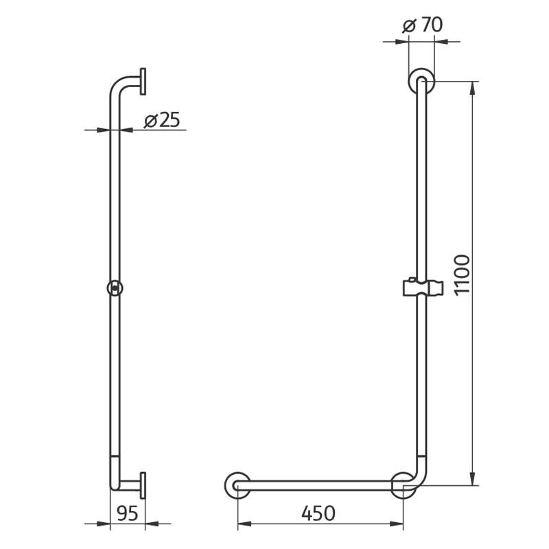 HSK Komfort & Pflege - Solida Stützgriff, L-Form