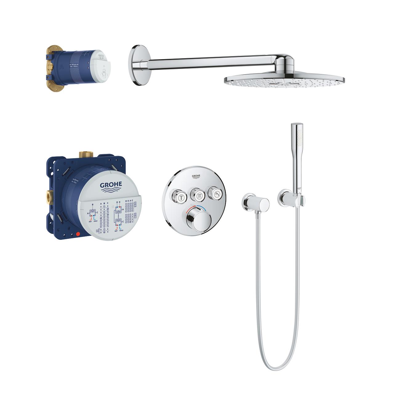 GROHE SmartControl Duschsystem Unterputz rund