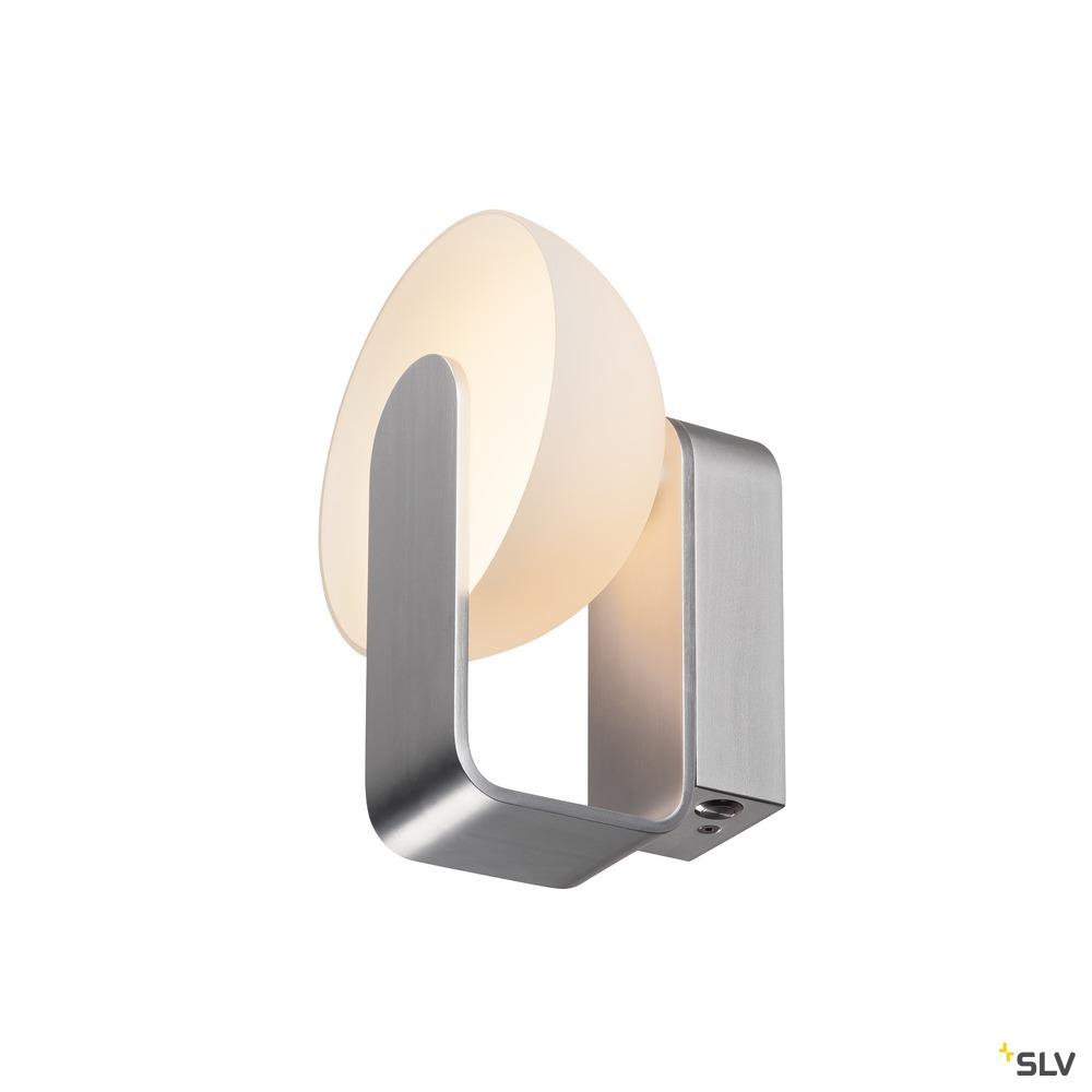 BRENDA, Wandleuchte, LED, 3000K, weiß/silber, 9W
