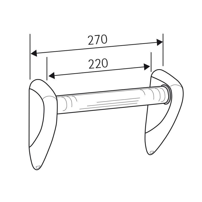 HSK Komfort & Pflege - Solida-Haltegriff, Chrom