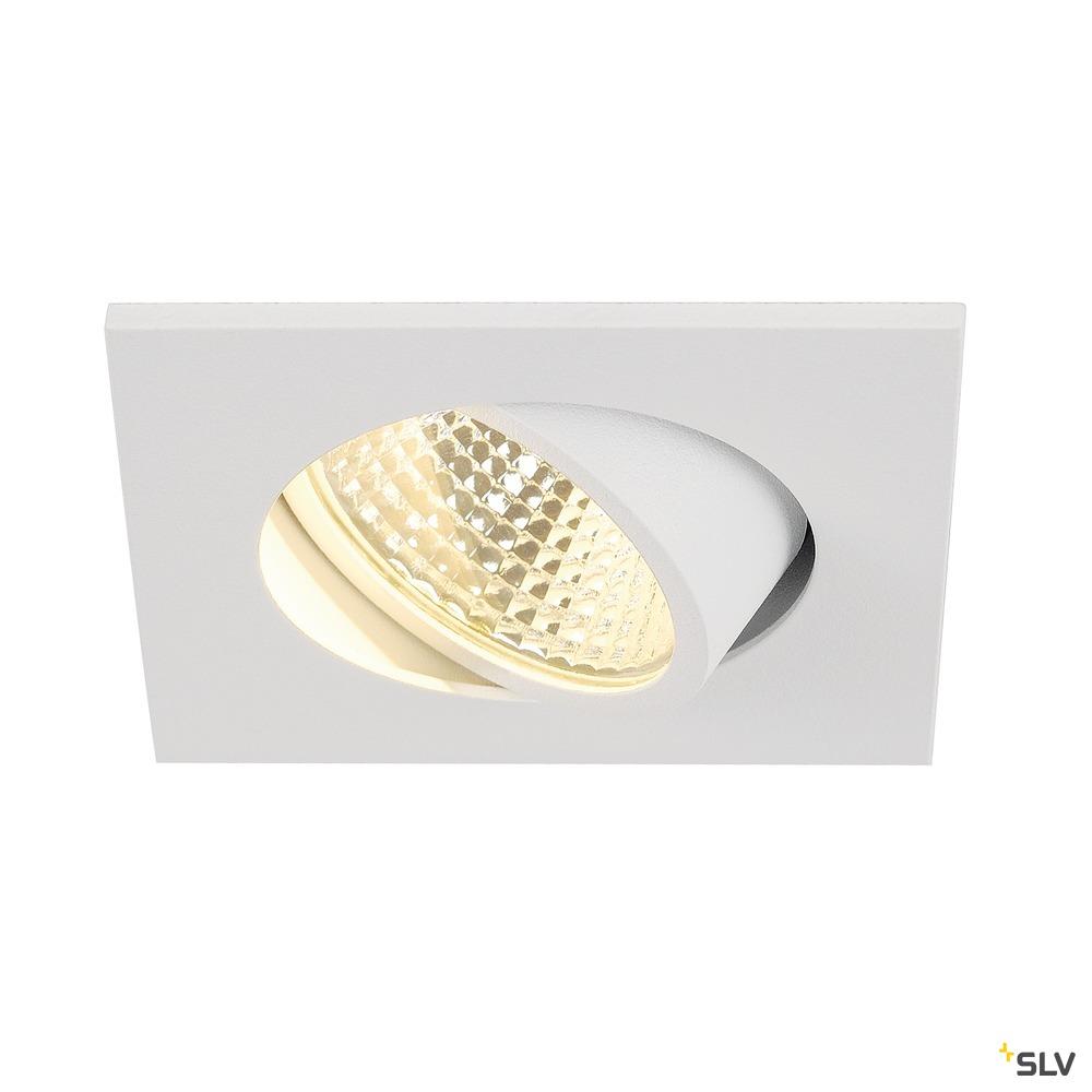 NEW TRIA 1 SET, Einbauleuchte, LED, 3000K, eckig, weiß, 38°, inkl. Treiber, Clipfedern