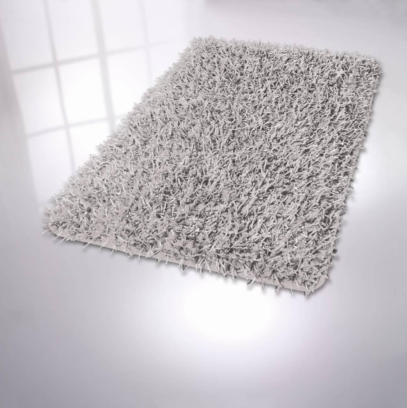 Badteppich Riva 75 % Polyester / 25 % Polyacryl Silbergrau 70x120 cm