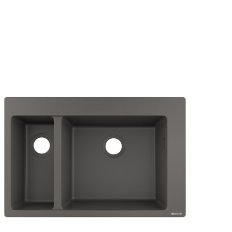 HG Einbauspüle 180x450 steingrau
