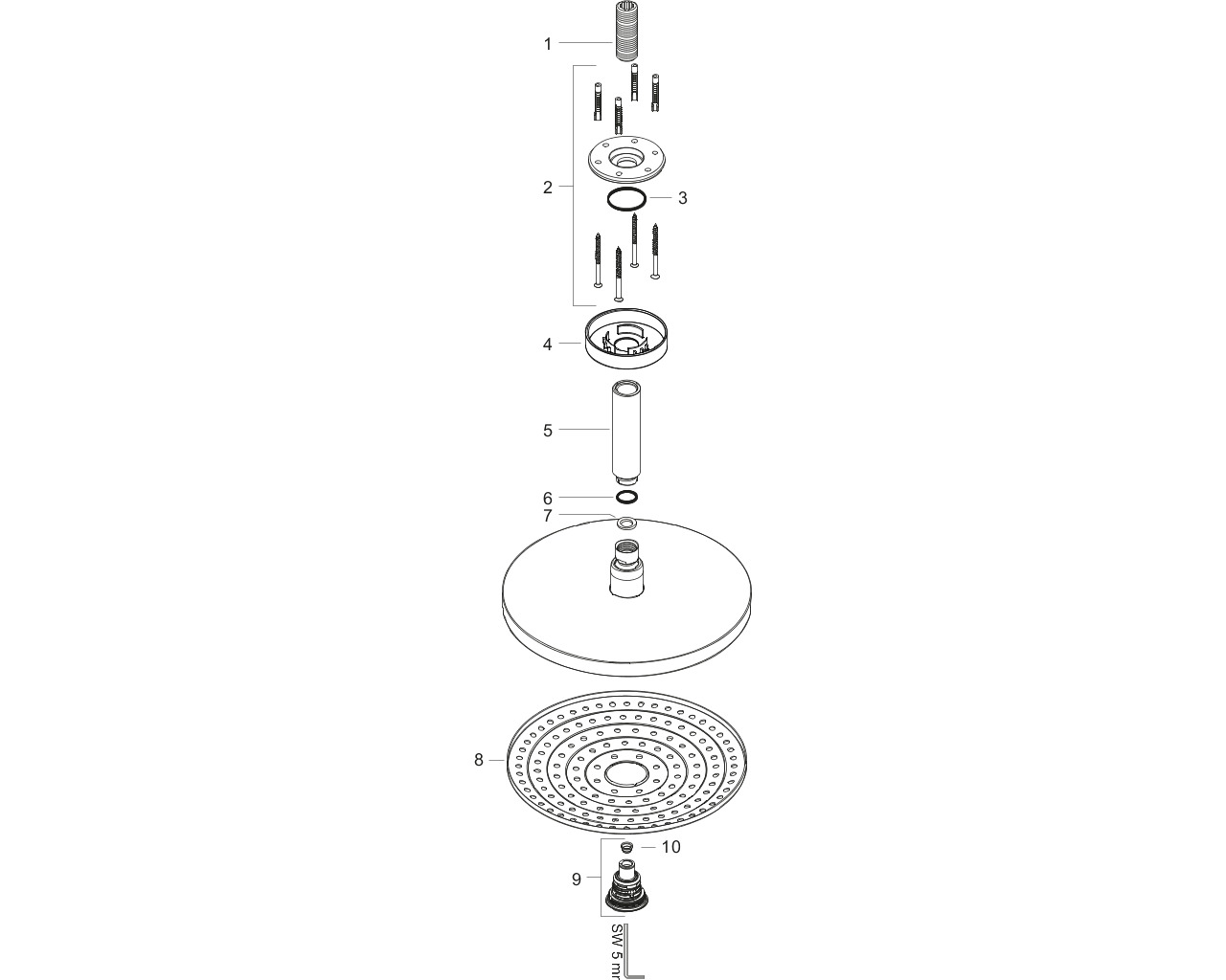 HG Kopfbrause Raindance Select S 240