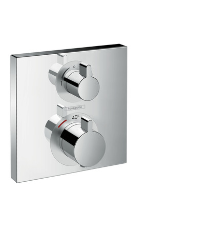 HG Thermostat Unterputz Ecostat Square Fertigset 2 Verbraucher chrom