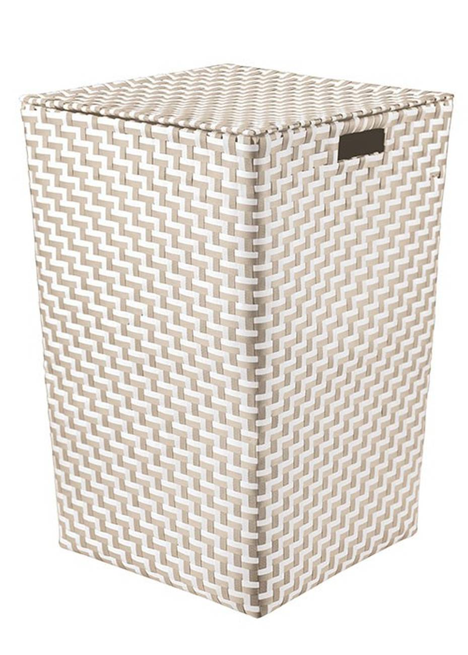 Wäschebox Double Laundry Box 100 % Polypropylen Platin Wäschebox 35x55 cm