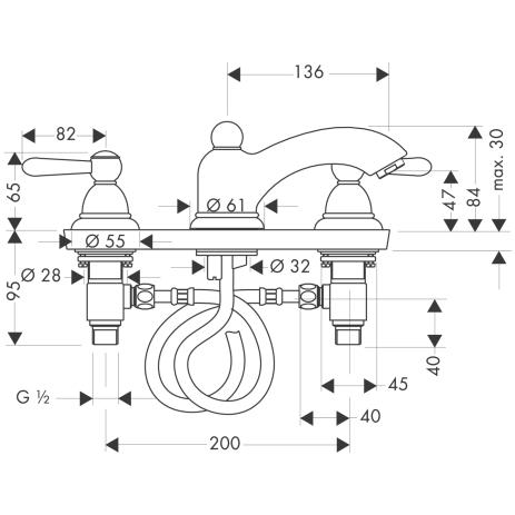 HG 3-Loch Waschtischarmatur Axor