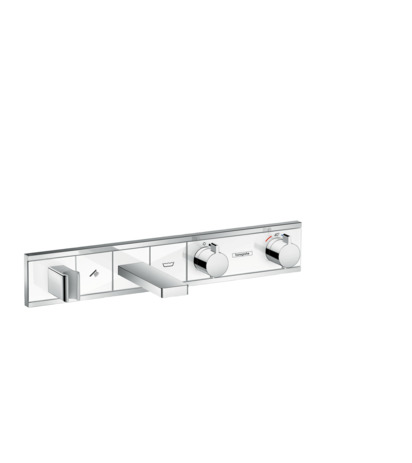 HG Thermostat Unterputz RainSelect Farbset 2 Verbraucher weiss/chrom Wanne