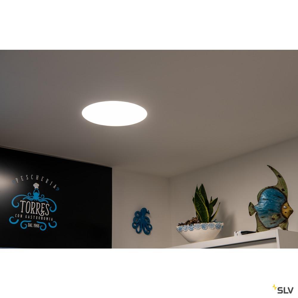 MEDO 60 EL, LED Indoor Deckeneinbauleuchte, rahmenlose Version, weiß, 3000/4000K