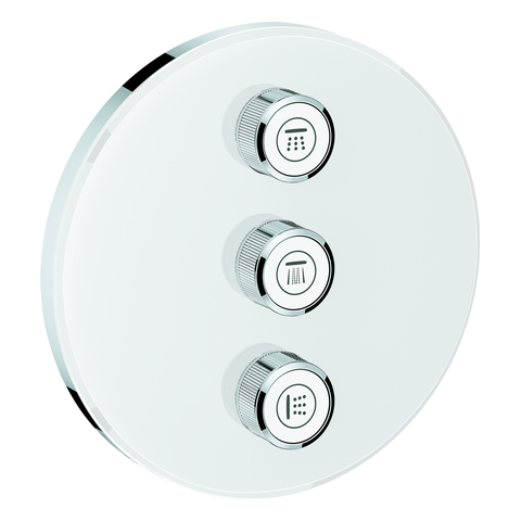GROHE 3-fach UP-Ventil Grohtherm Smart Control 29152 rund FMS moon white