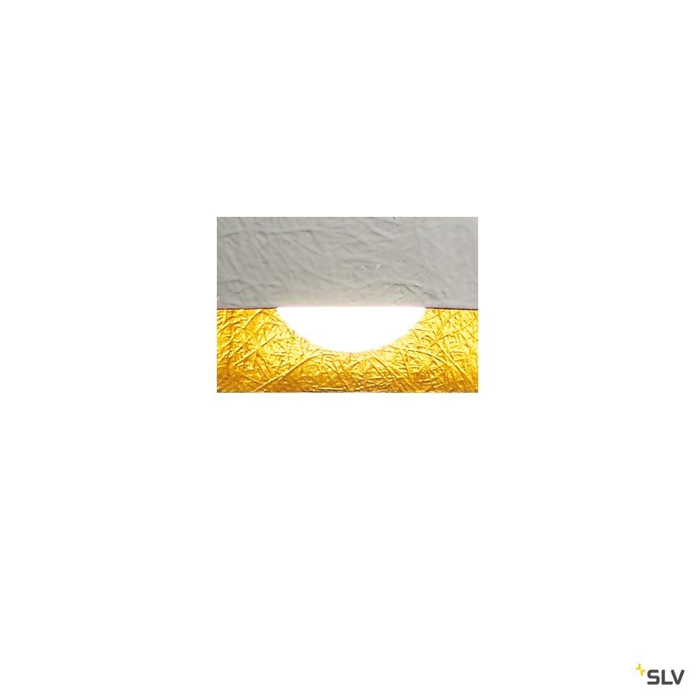 FORCHINI PD-2, Pendelleuchte, A60, rund, weiß matt/gold, Ø 38 cm, max. 40W