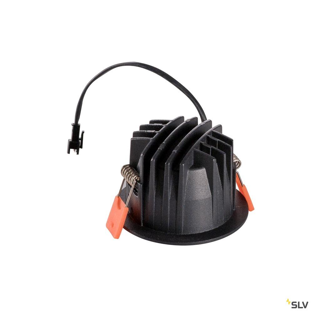 NUMINOS® DL S, Indoor LED Deckeneinbauleuchte schwarz/chrom 3000K 20° inkl. Blattfedern