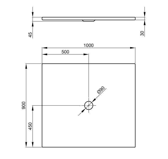 Bette Floor - 1000x900 mm Pergamon (001) inkl. Antirutsch inkl. Wannenträger
