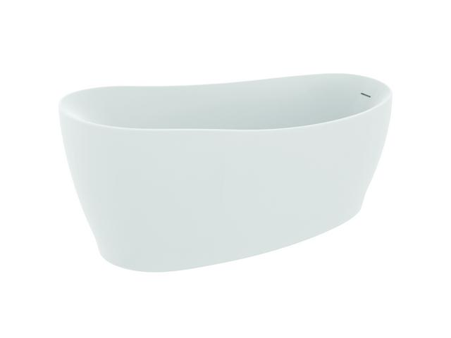 IS Kf-Badewanne Around freistehend m.Ablauf 1800x850x625mm Seidenweiß