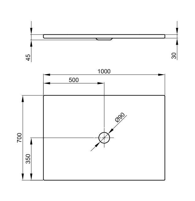 Bette Floor - 1000x700 mm Bahama Beige (003) inkl. Antirutsch exkl. Wannenträger