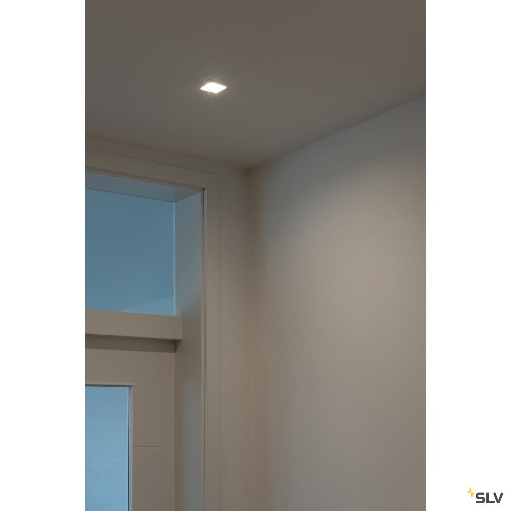 RENISTO DL, LED Indoor Deckeneinbauleuchte, eckig, weiß, 3000K, 40°, 29W
