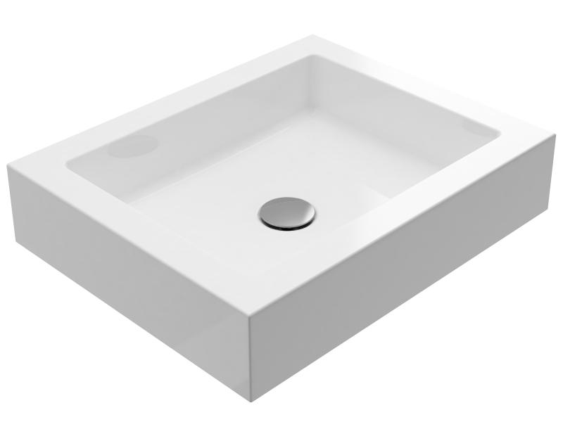 Treos Mineralguss Aufsatzwaschbecken 500x400x105 mm