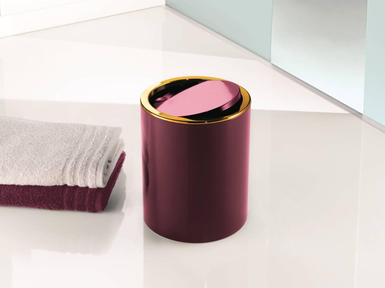 Kosmetikeimer Golden Clap ABS Schwarz Eimer 5 Liter
