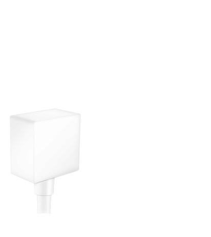 HG Schlauchanschluss DN15 Fixfit Square mit Rückflussverhinderer mattweiss