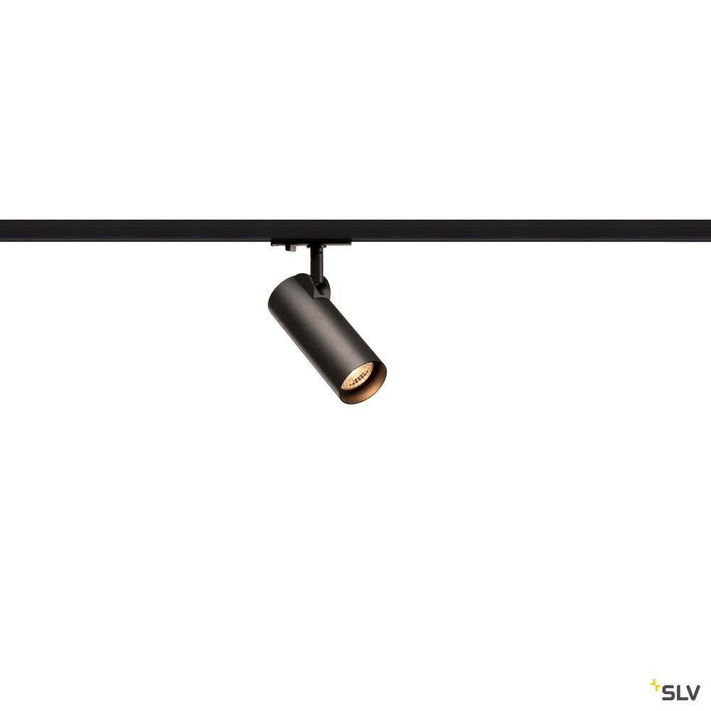 HELIA 50, Strahler für 1Phasen Hochvolt-Stromschiene, LED, 3000K, schwarz, 35°, inkl. 1 Phasen-Adapter