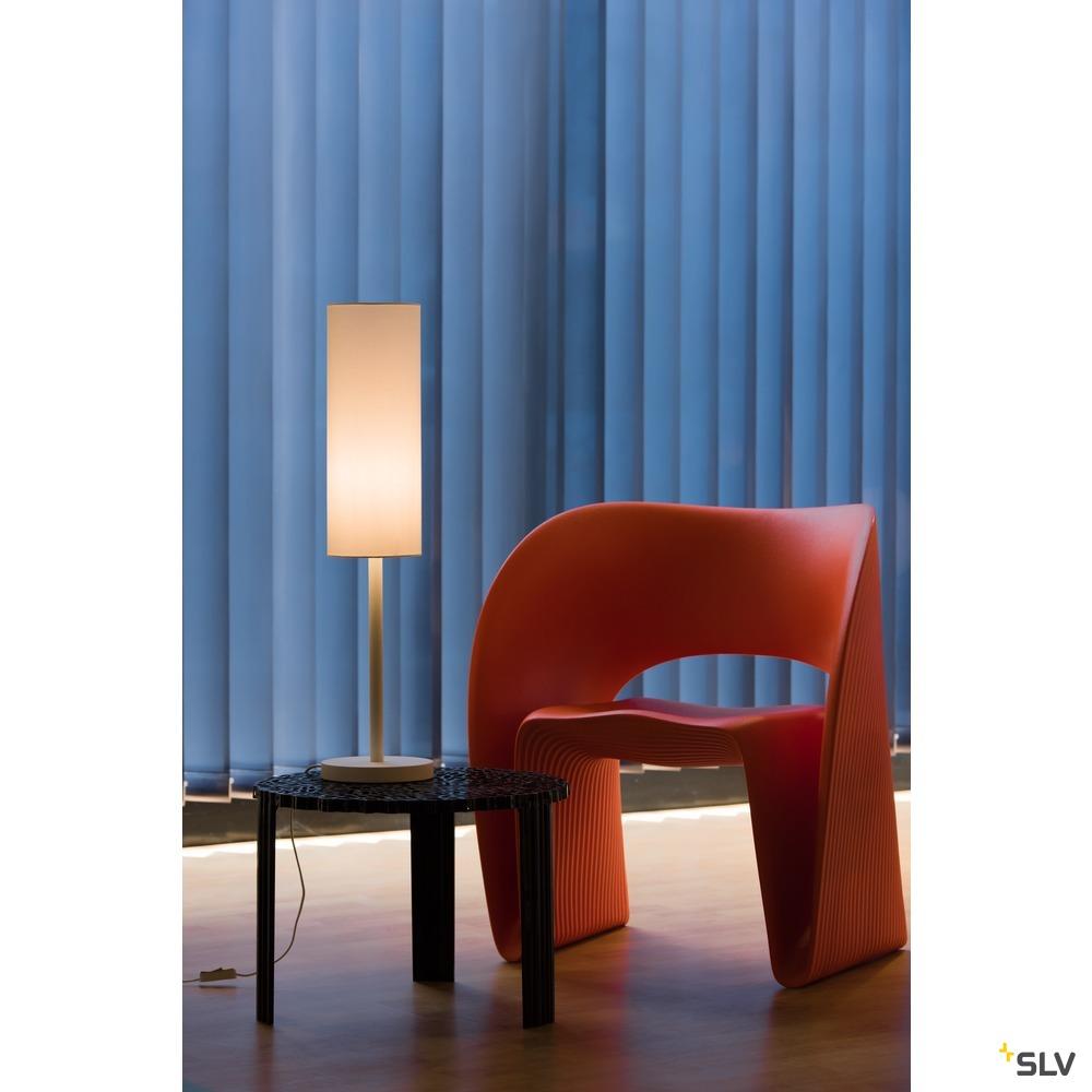 FENDA Tischleuchtenfuß I E27, Indoor Tischleuchte weiß ohne Schirm