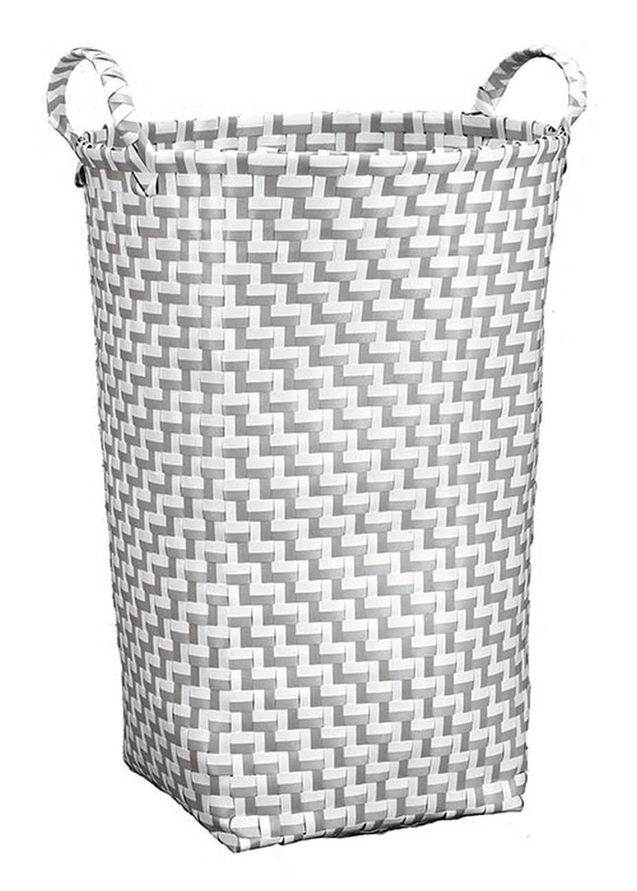 Wäschebox Double Laundry 100 % Polypropylen Platin Wäschebox 35x50 cm