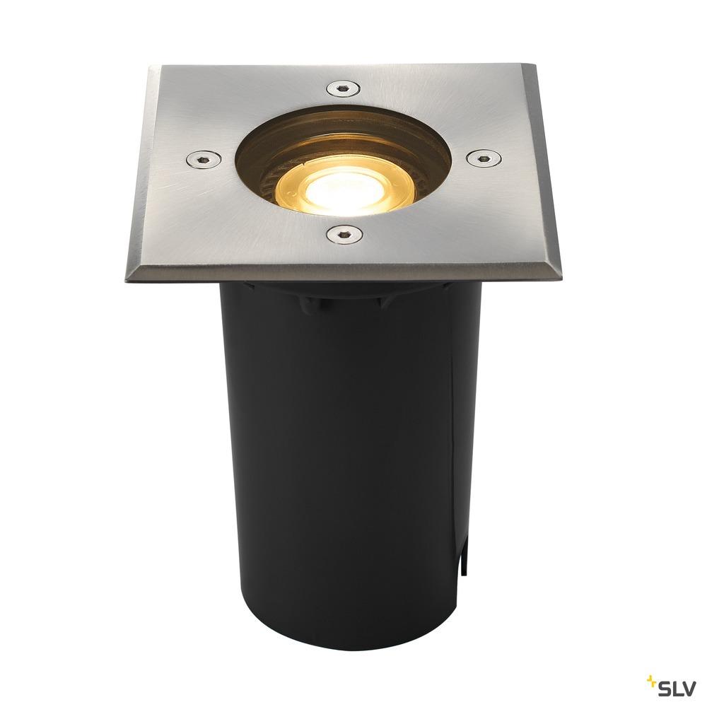 SOLASTO 120, Outdoor Bodeneinbauleuchte, LED GU10 51 mm, IP67, eckig, edelstahl, max. 6W