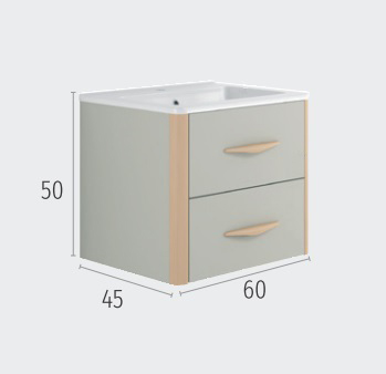 Thielsch Badmöbel Versus 60 inkl. Waschtisch Weiß Mattlackiert