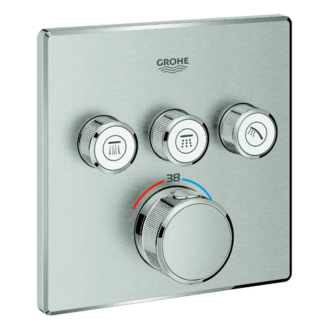 GROHE Thermostat Grohtherm SmartControl 29126 eckig FMS 3 ASV supersteel