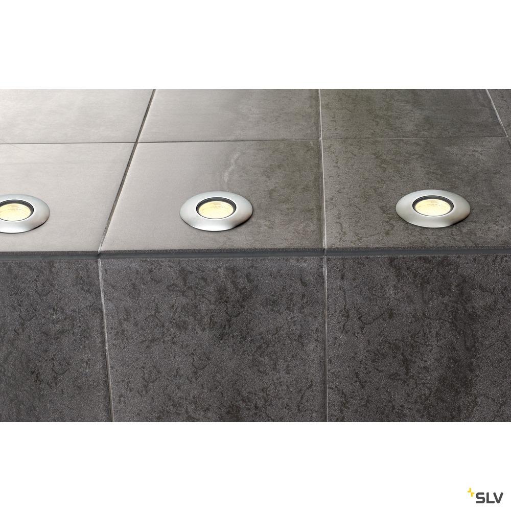 TRAIL-LITE 60, Outdoor Bodeneinbauleuchte, LED, 3000K, IP65, edelstahl 316, Glaseinsatz satiniert