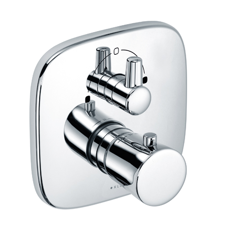 KLUDI AMBA Unterputz-Thermostatarmatur Feinbau-Set m.Absperr- und Umstellventil