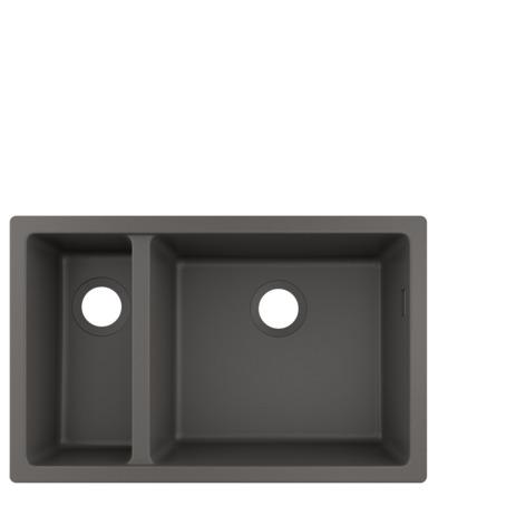 HG Unterbauspüle 180x450 S510-U635 steingrau