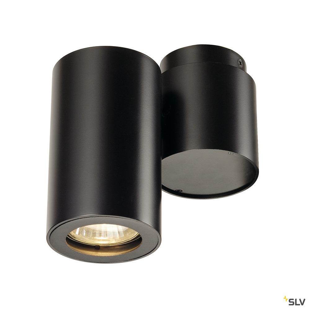 ENOLA_B, Wand- Deckenleuchte, einflammig, QPAR51, schwarz, max. 50 W