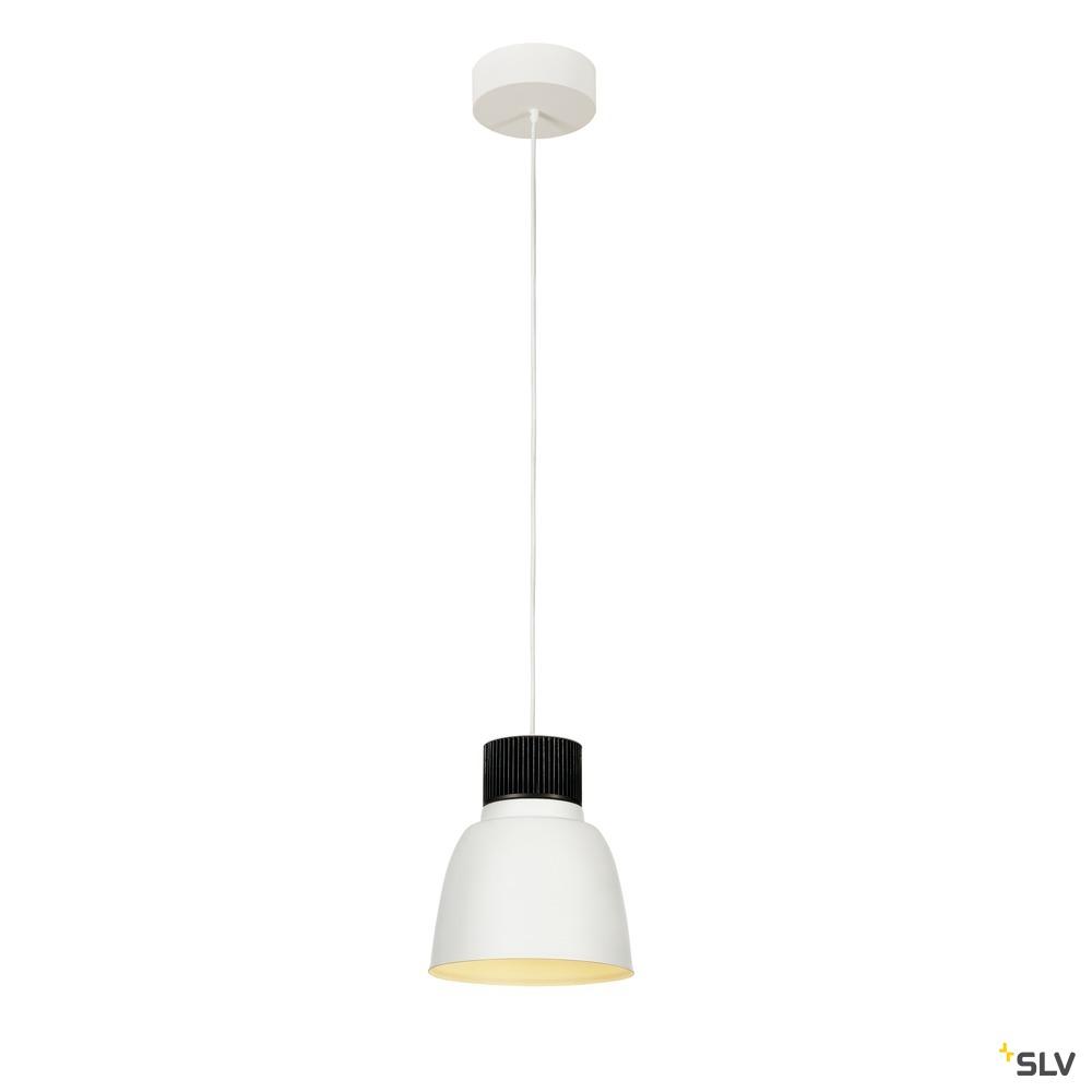PENTULI, Pendelleuchte, LED, 3000K, weiß, Ø24 cm, Rosette weiß, 31W