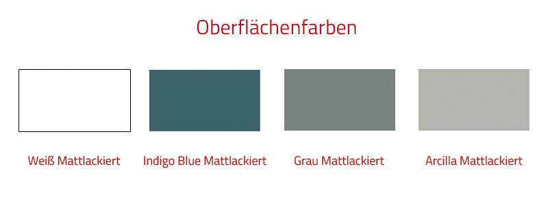 Thielsch Badmöbel Ondas Set 80 cm Indigo Blue Mattlackiert inkl. Wandschrank