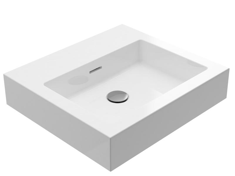 Treos Mineralguss Waschbecken ohne Hahnloch 500x450 mm