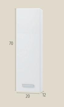 Thielsch Badmöbel Star 20 Wandschrank Mel Nebraska Grau