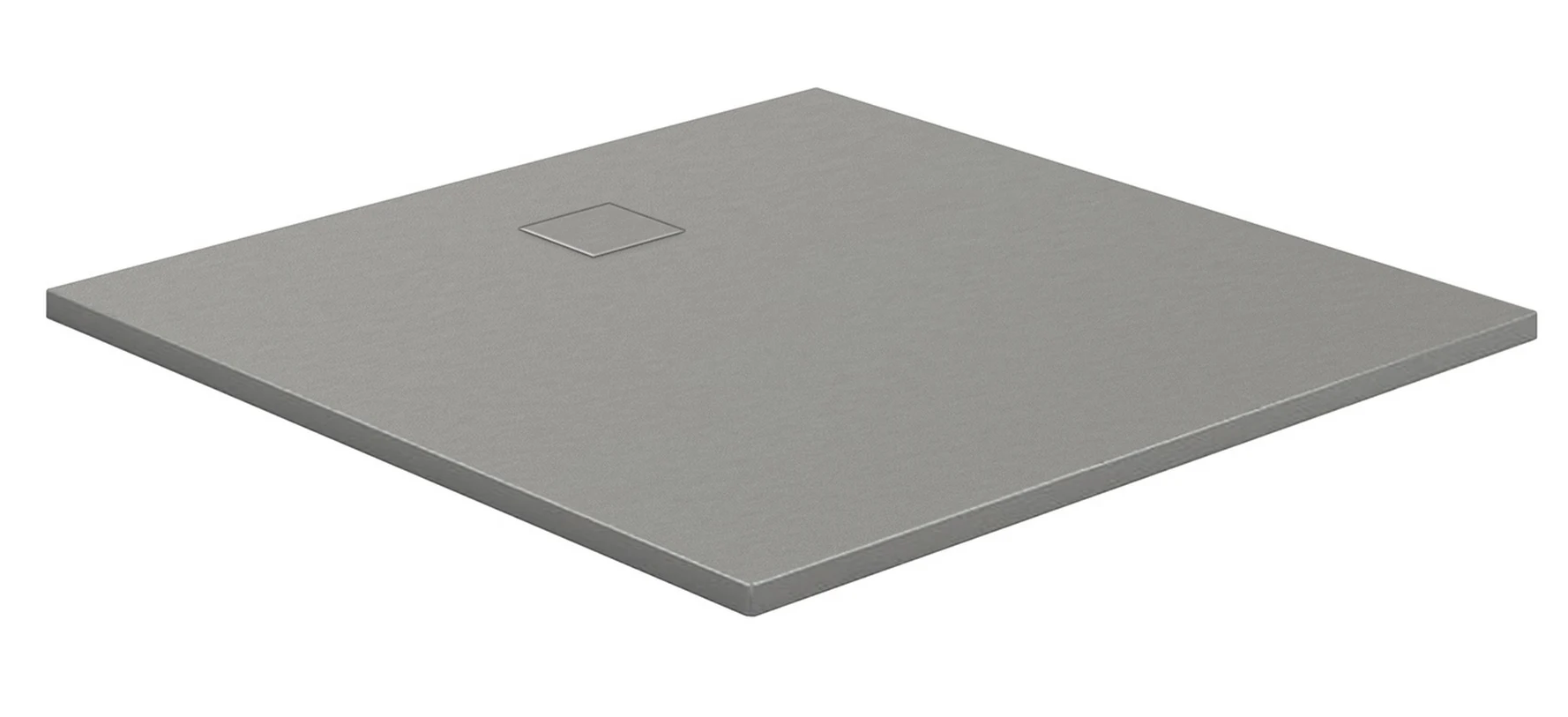 HSK Marmor-Polymer-Duschwannen, Steinoptik - Quadrat 90x90 Anthrazit mit AntiSlip-Beschichtigung
