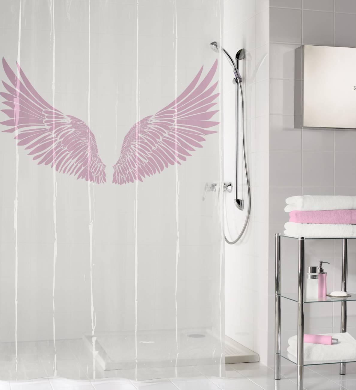 Duschvorhang Wings PEVA Flamingo 180x200 cm