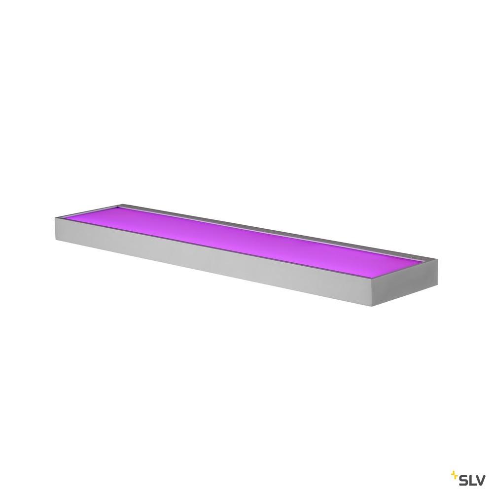 NEW FLAT WL, Indoor LED Wandaufbauleuchte RGBW alu