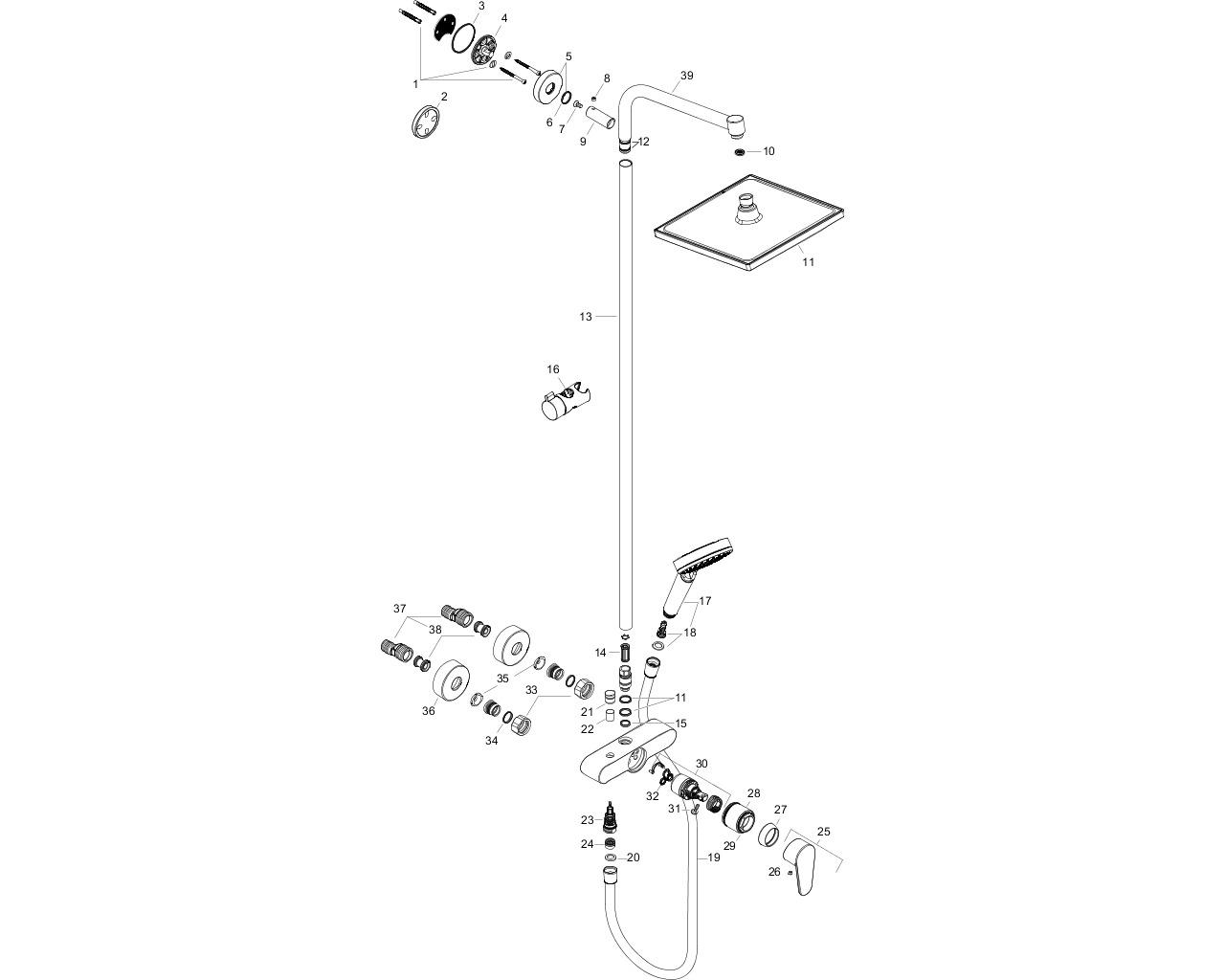 HG Showerpipe Crometta E 240
