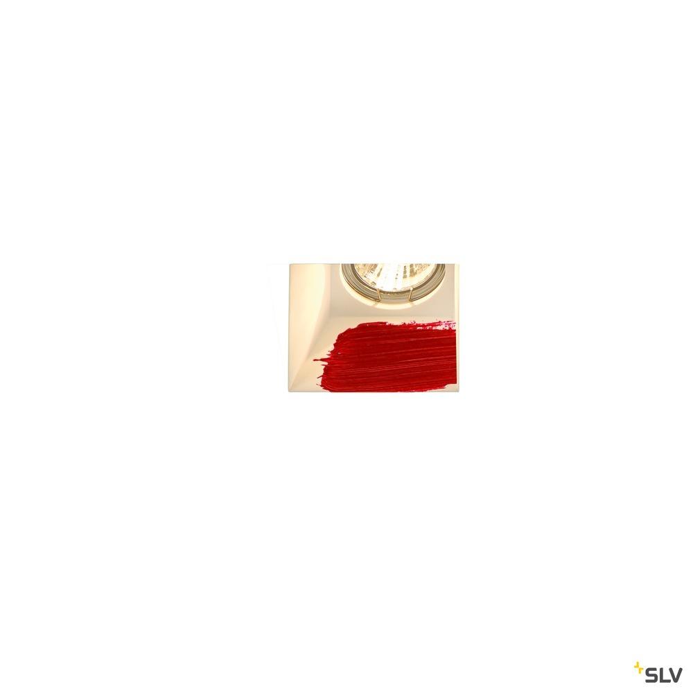 PLASTRA, Einbauleuchte, QPAR51, eckig, weißer Gips, max. 35W