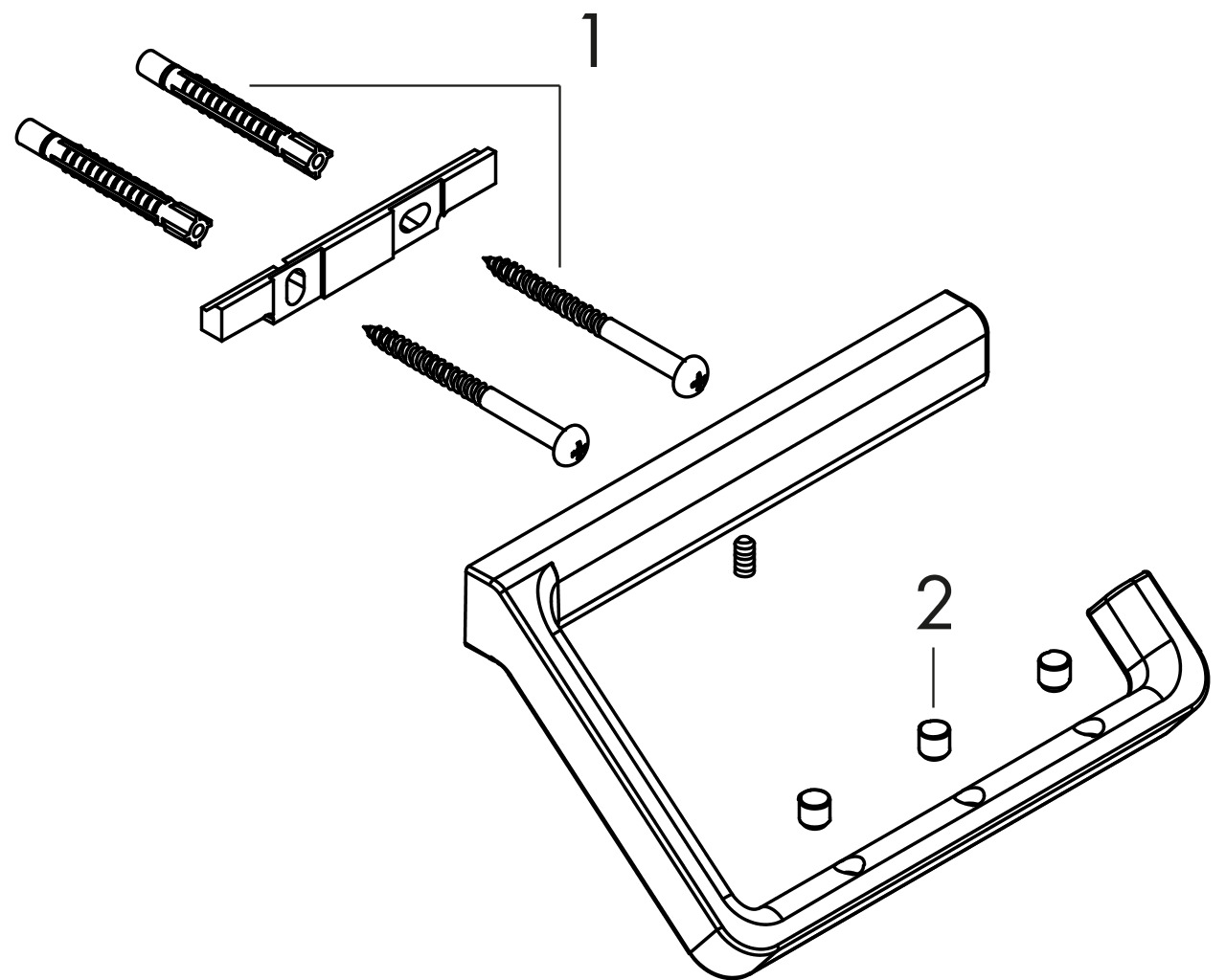 HG Papierrollenhalter Axor Universal