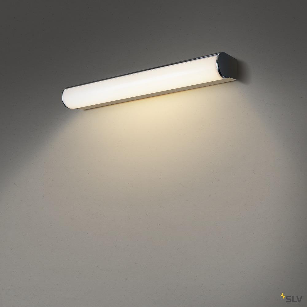 MARYLIN, LED Indoor Wandaufbauleuchte, chrom, IP44, 3000K, 10W