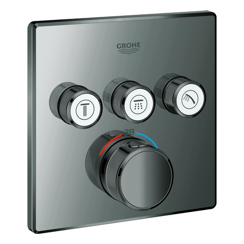 GROHE Thermostat Grohtherm SmartControl 29126 eckig FMS 3 ASV hard graphite