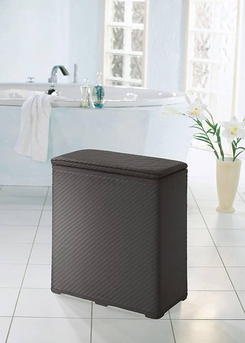 Wäschebox Wäscheboy 100 % Polypropylen Graphit Wäschebox 48x27x55cm