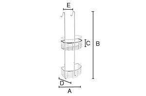 SMEDBO Sideline Basic Duschkorb, 3-fach