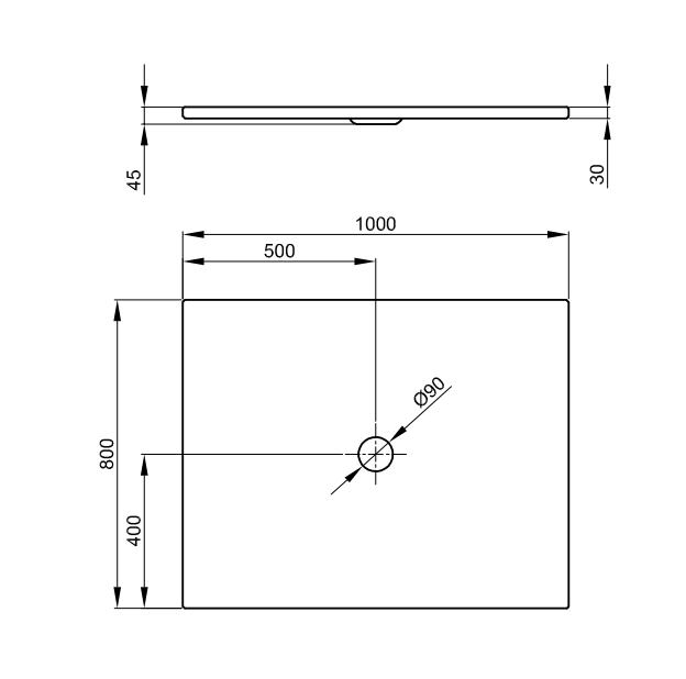 Bette Floor - 1000x800 mm Bahama Beige (003) exkl. Antirutsch inkl. Wannenträger